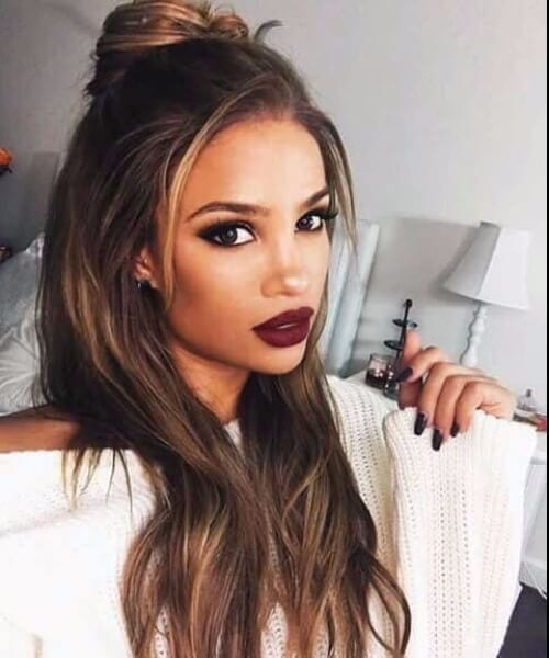messy top knot homecoming hairstyles