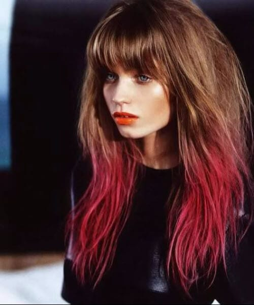 natural color red ombre hair
