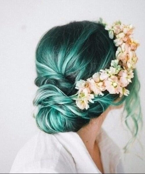 natural flower crown mermaid hair