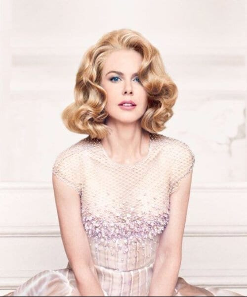 nicole kidman as grace kelly shoulder length hairstyles
