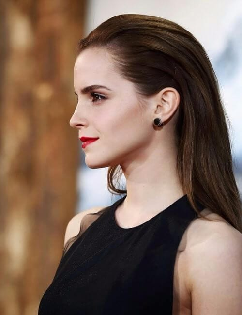 no parting ultra modern hairdos for long hair emma watson