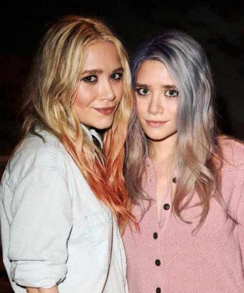 olsen twins red ombre hair