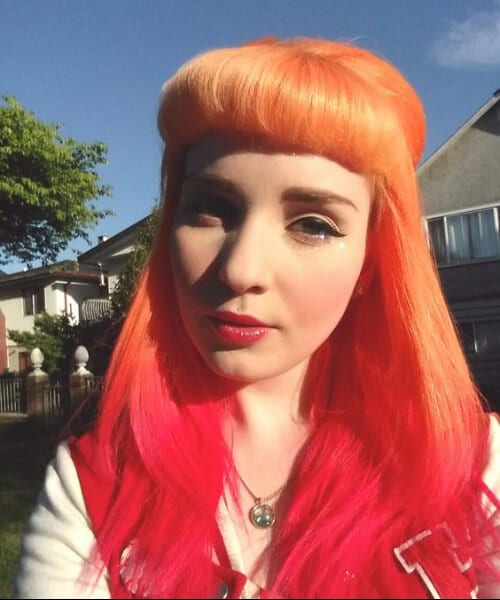 orange and red ombre hair