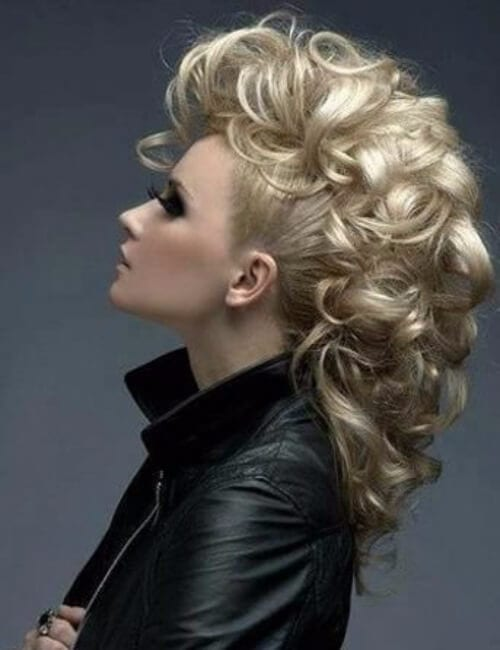 oversized curly faux mohawk hairdos for long hair