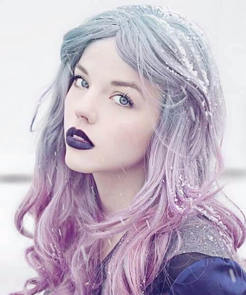 pastel goth purple ombre hair