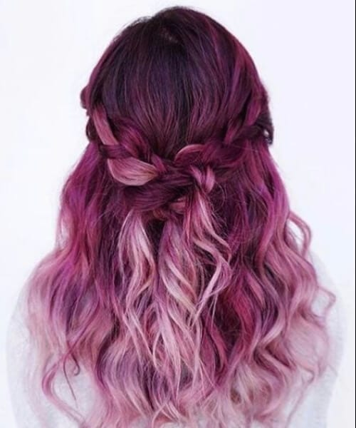 pink purple ombre hair
