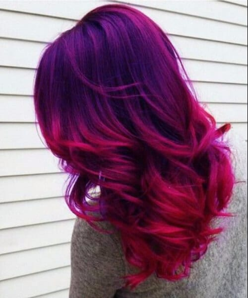 pink violet purple ombre hair