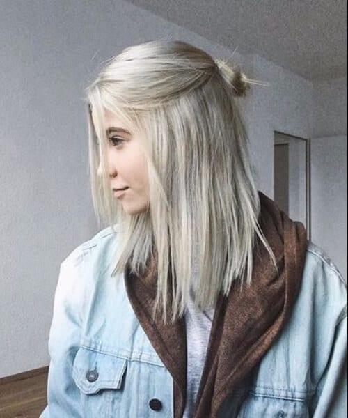 platinum blonde shoulder length hairstyles