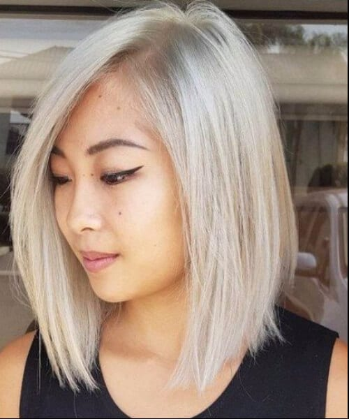 platinum shoulder length hairstyles