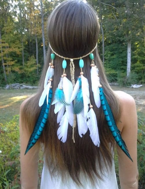 princess native american turquoise updos for long hair
