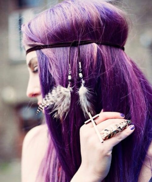 purple ombre hair alternative hairstyle