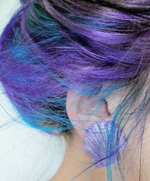 purple ombre hair mermaid