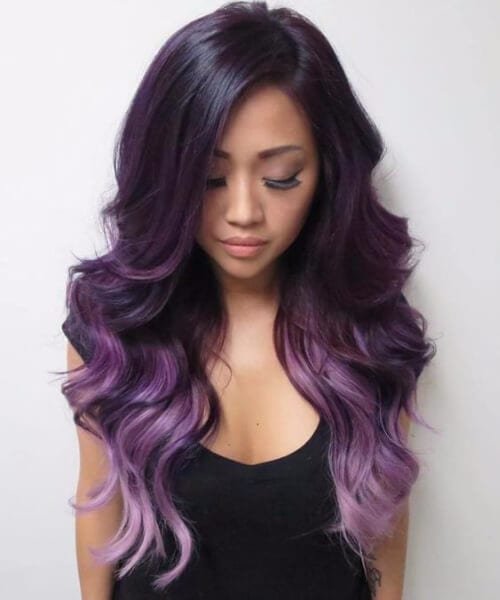 purple ombre hair violet