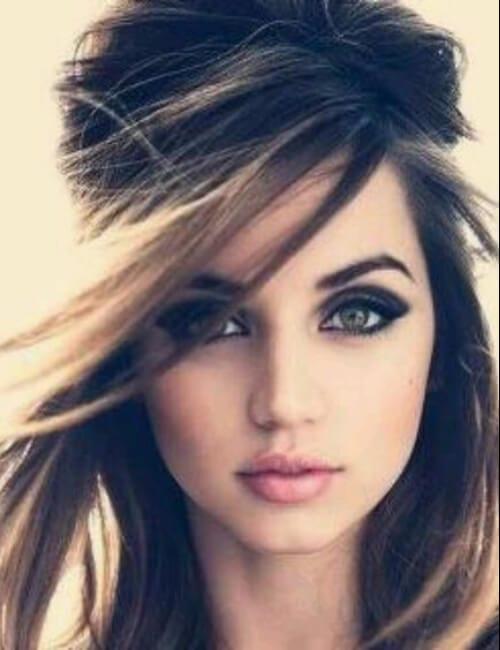 retro hair dark eye updos for long hair