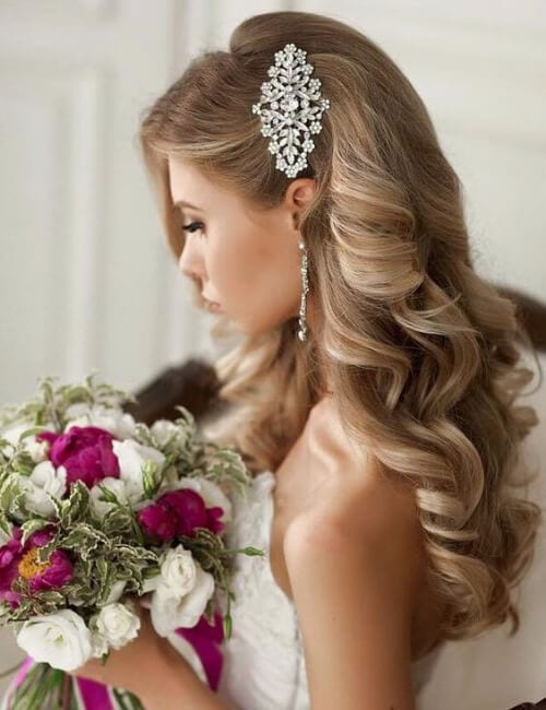 romantic wedding updos for long hair