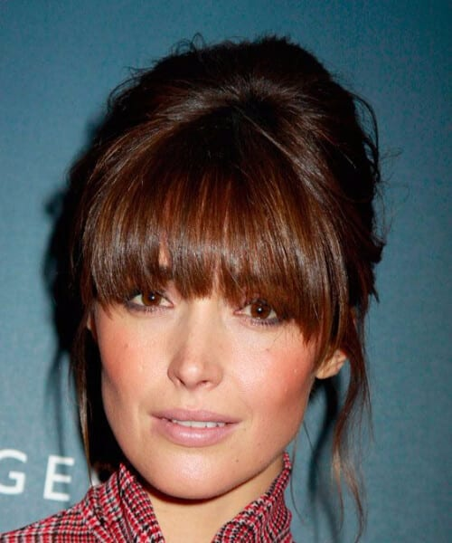 rose byrne heavy bangs homecoming hairstyles