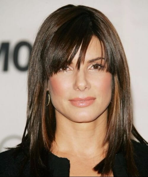 sandra bullock shoulder length hairstyles