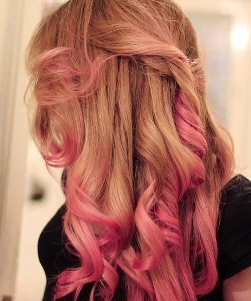 sandy blonde purple ombre hair
