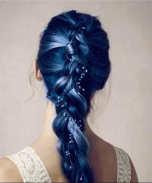 sea foam blue ombre mermaid hair