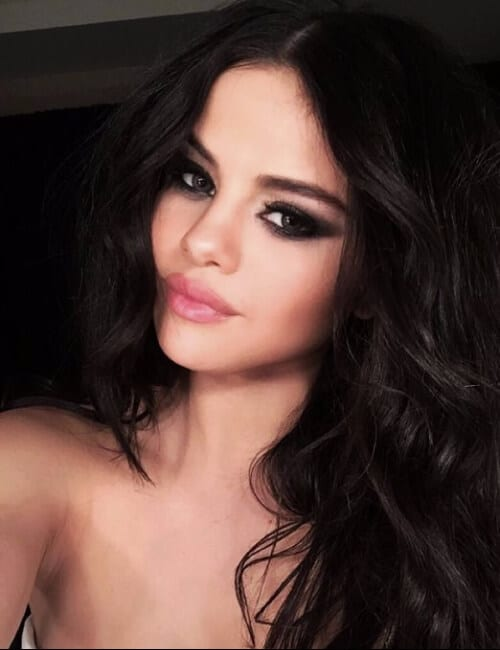 selena gomez updos for long hair