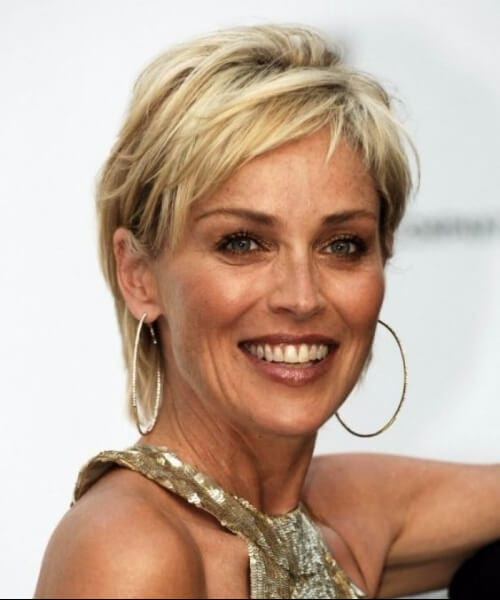 sharon stone hairstyles for women over 50