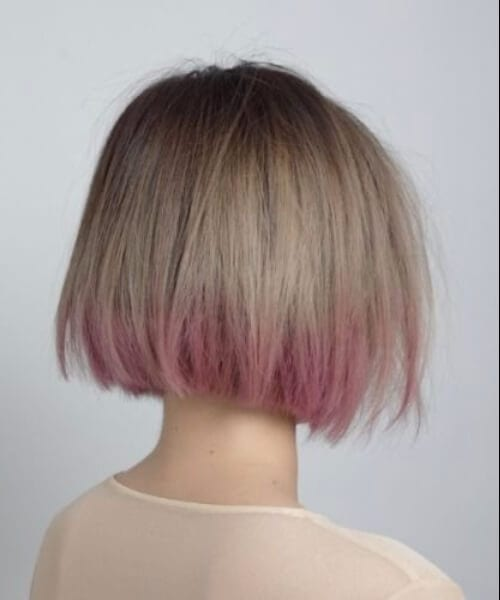 short bob purple ombre hair