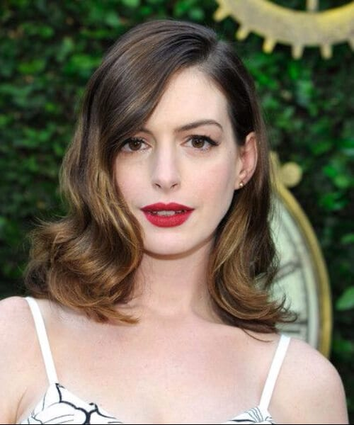 shoulder length hairstyles anne hathaway