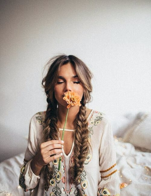simple bohemian braids updos for long hair
