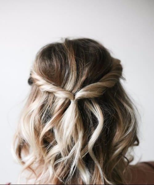 simple twist shoulder length hairstyles