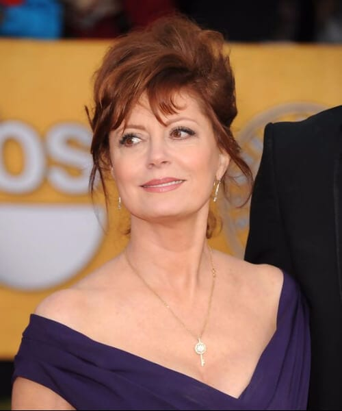 susan sarandon hairstyles for women over 50