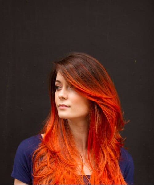 urban red ombre hair