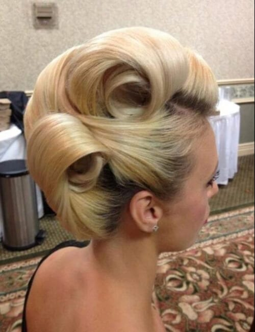 victory rolls all over updos for long hair