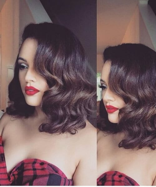 vintage curls medium bob homecoming hairstyles