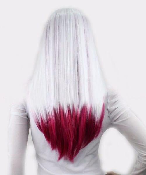 wine purple ombre hair