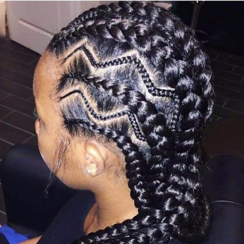 zig zag ghana braids