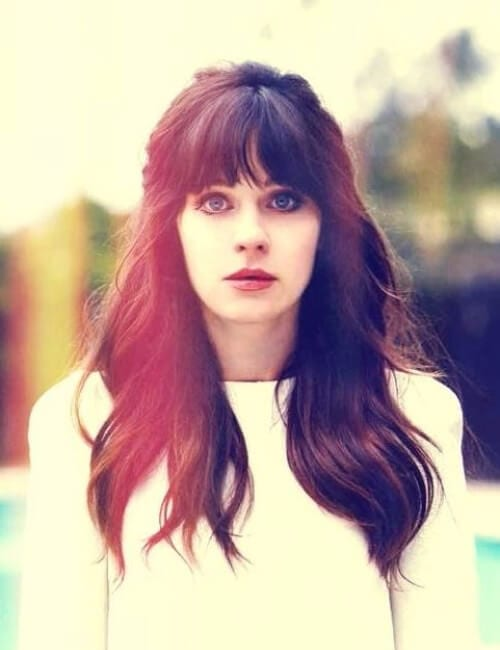 zooey dechanel updos for long hair