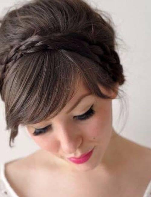 Braided crown bridesmaid hairstyles