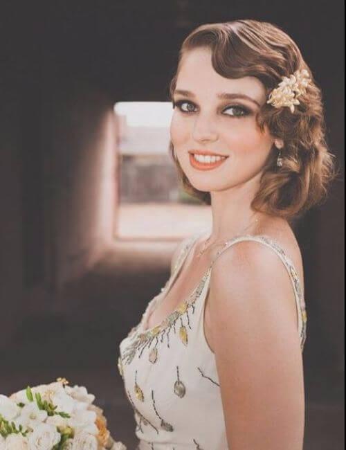 Chic Art Deco Wedding Hair Ideas bridesmaids hairstyles