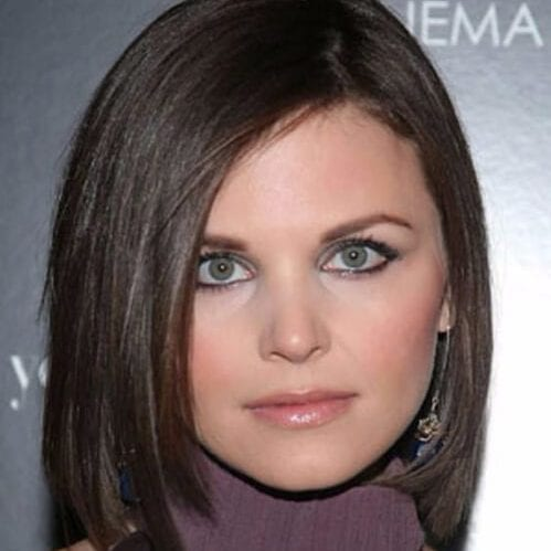 Ginnifer Goodwin medium bob haircuts for round faces