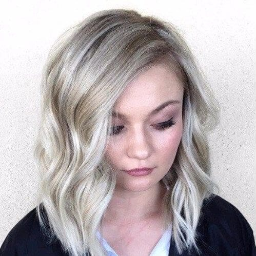Grey Ombre haircuts for round faces