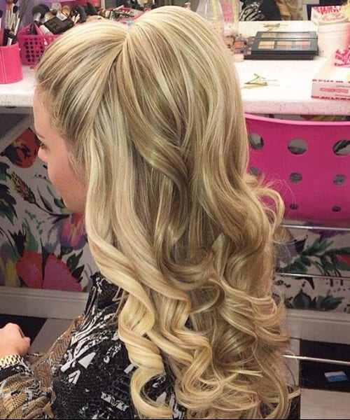 Half-Up Bump prom updos