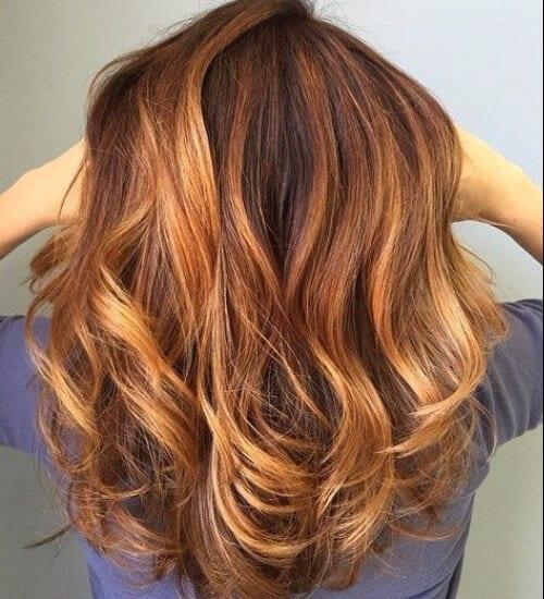 Honey blonde auburn hair color for autumn