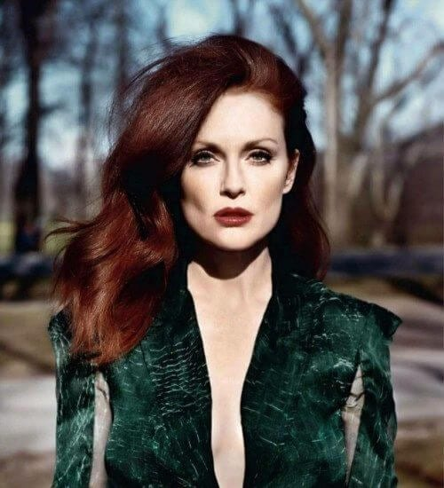 Julianne Moore auburn hair color