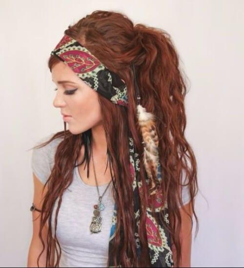 Junk Gypsy style auburn hair color