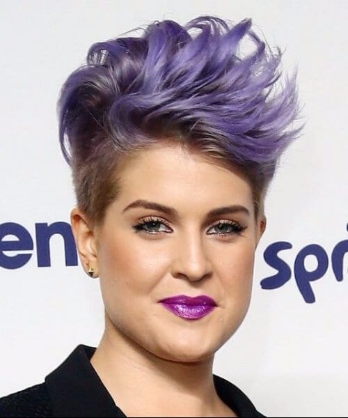 Kelly Osbourne Short Shaved updos for short hair