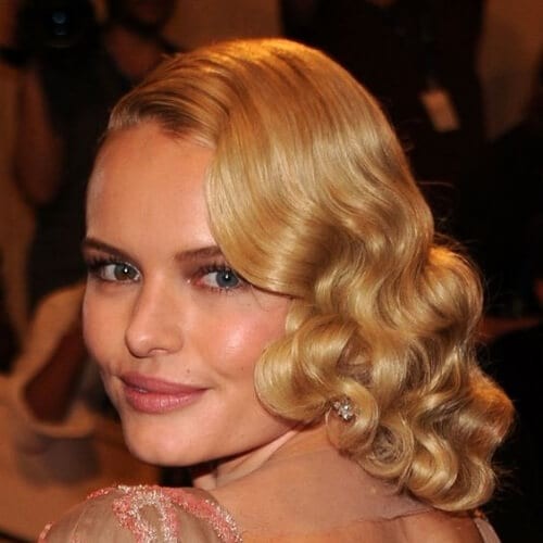 Pretty Half-Up Hairstyles for Prom Kate Bosworth haircuts for round faces