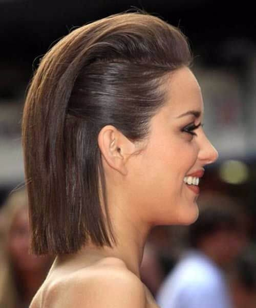 Short Bob Straight Slicked Back Hair updos for short hair