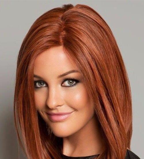 Warm Auburn Brown Hair Color