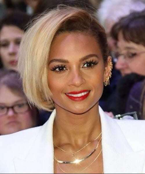 alesha dixon half bob updos for short hair