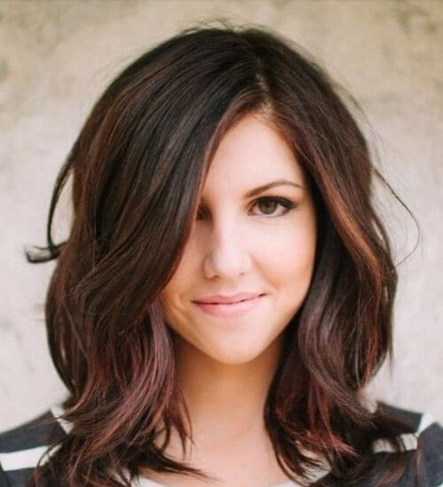 auburn hair color long bob